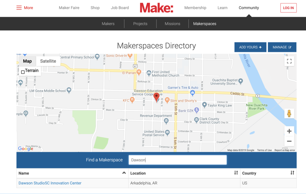 DEC Studio5C Makes the Make: Makerspace Directory