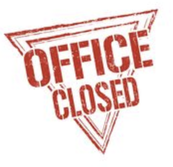 Offices Closed Wednesday, August 27
