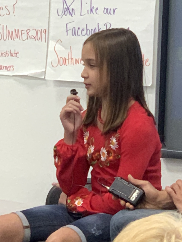 Sasha sharing her immigrant story