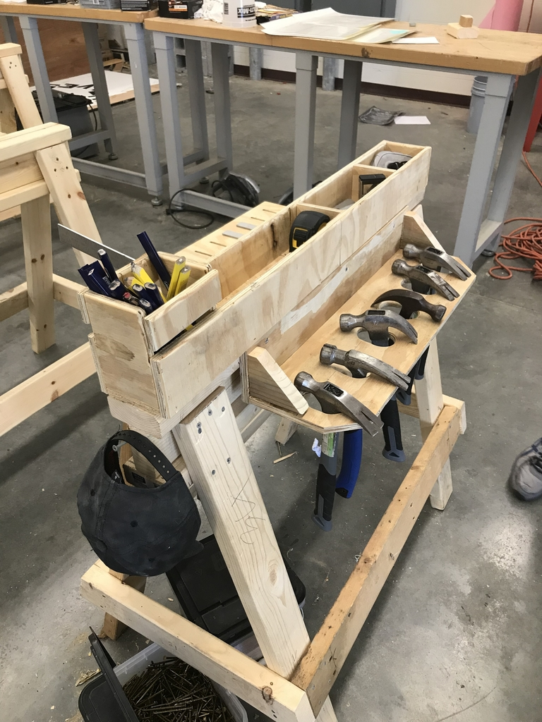 Tool storage made by Lake Hamilton students.